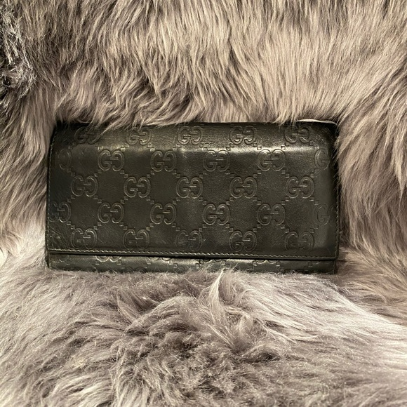 Gucci Handbags - Monogram Black Gucci Wallet